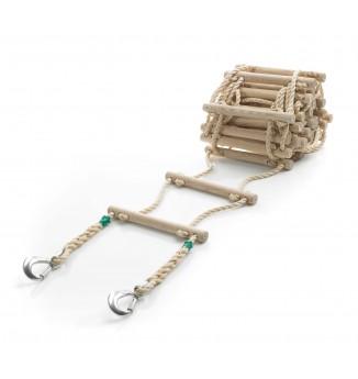 Strickleiter aus 16mm-PP-Seil